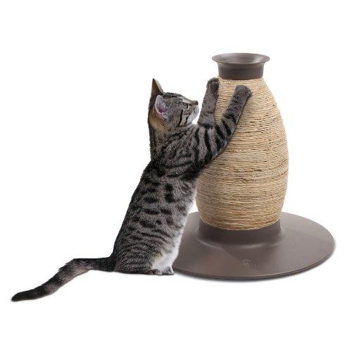 52421 dekorative Kratzvase - Vase - mit Maishülsen und Sisalseil für Katzen