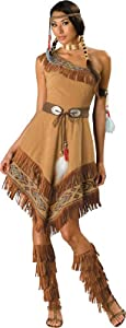 InCharacter Costumes, LLC Women's Indian Maiden Costume, Brown, Medium