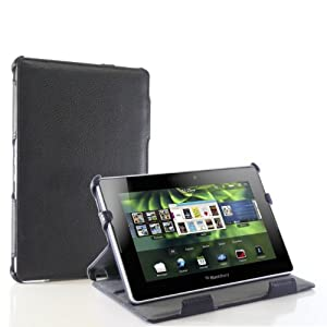 Blurex Slim Leather Portfolio Case With 2 Tier Stand for Blackberry Playbook