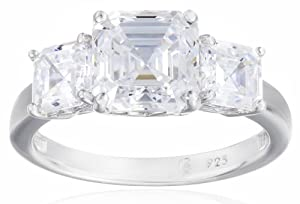 Sterling Silver Swarovski Zirconia 3cttw Asher 3 Stone Anniversary Ring from Elite Group International NY Inc.- ACC