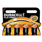 Duracell Plus Power Battery Alkaline 1.5V C Ref 81275334 [Pack 4]
