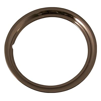 Set of 4 Stainless Steel 15 Inch Beauty Trim Rings with Metal Clip Retention System - Part Number: IWC1515S