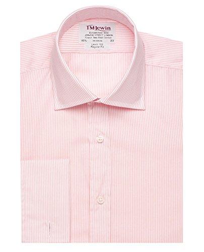 t-m-regular-fit-lewin-mens-t-shirt-en-popeline-a-rayures-rose