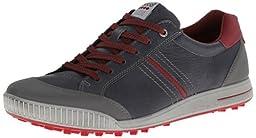 ECCO Men\'s Golf Street Lace Up Sneaker,Ombre/Brick,44 EU/10-10.5 M US