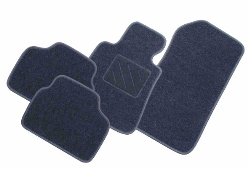 """Passform Fussmatte mit Absatzschoner """"ZERO"""" graphit für Mercedes E-Klasse W211 / S211 Limousine / T-Modell Kombi Bj. 03/02 - 02/09 mit Mattenhalter vorne"""