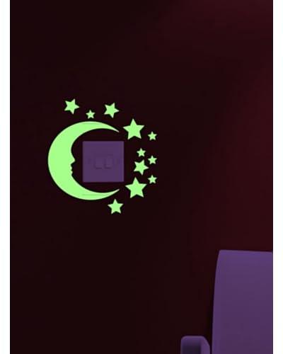 Ambiance Sticker Vinile Adesivo Stelle e Luna Fosforescenti