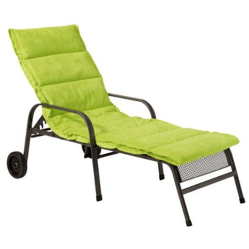 Greemotion 410571 Cover for Wheeled Sun Lounger 198 x 66 x 4 cm Lime Green