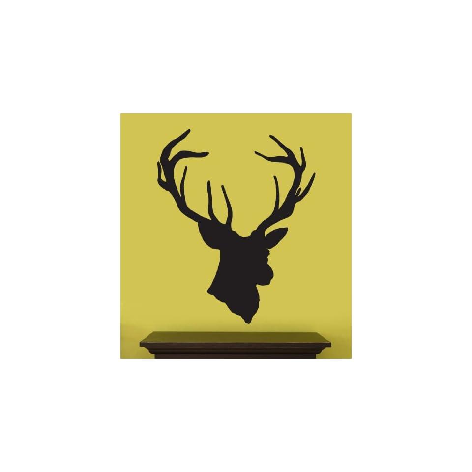 Vinyl Wall Art Decal Sticker Deer Head Statue Silhouette 43 X 35 #201