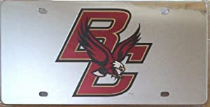 Buy Boston College Eagles Silver SD Laser Cut Mirrored License Plate Tag University of by Stockdale