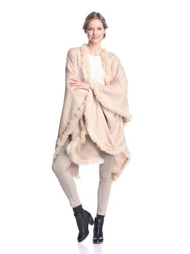 Alicia Adams Alpaca Women's Solid Cape, Beige