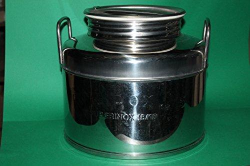 Damigiana Contenitore per olio o vino litri 30 in acciaio 18/10