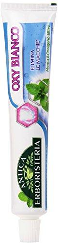 Antica Erboristeria - Dentifricio Oxy Bianco, Elimina le Macchie, Menta è Ossigeno Attivo -  75 ml
