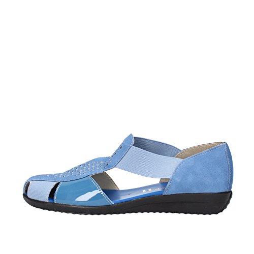 CINZIA SOFT sandali donna blu camoscio vernice tessuto (37 EU)
