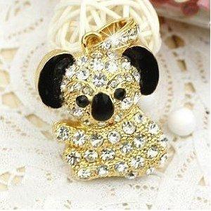 High Quality 4 GB Koala Bear Shape Crystal Jewelry USB Flash Memory Drive Necklace (Golden) from T &  J