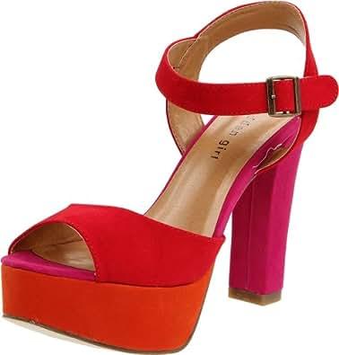 Madden Girl Women's Naughtyy Sandal,Red Multi,6 M US