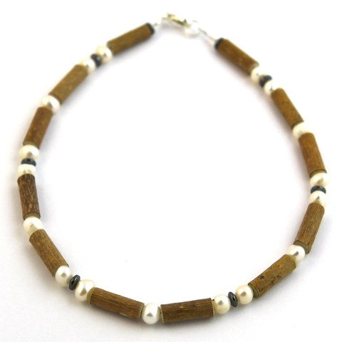 "Hazelaid (TM) Child Hazelwood-Gemstone Necklace - 11"" Freshwater Pearl - 1"