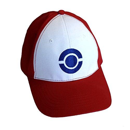 サトシ帽子アダルトベースボールキャップブルーサークルロゴ品質ポケモンコスチューム