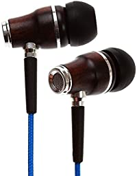 Symphonized NRG Premium Genuine Wood In-ear Noise-isolating Headphones|Earbuds|Earphones with Microphone (Midnight Blue)