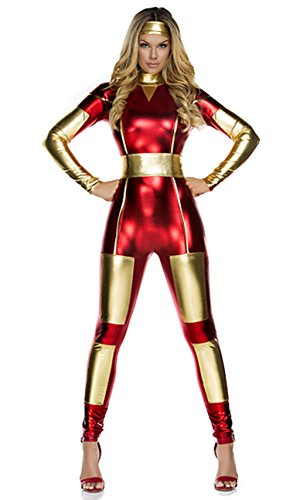 [NonEcho Adult Wonder Woman Costume Catsuit Red] (Iron Man Cat Costume)