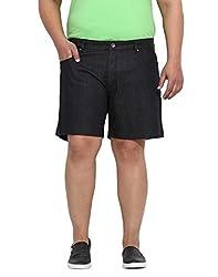 Black Coloured Cotton Denim Shorts 46