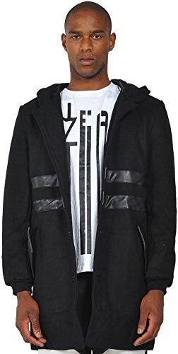 pizoff-hombre-parka-de-lana-con-capucha-y-ribete-de-efecto-cuero-en-negro-y1188-m