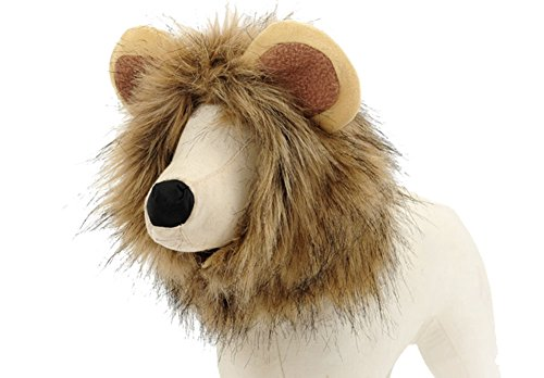 BETOP Pet Costume Dog Cat Super Cute Lion Mane Wig Halloween Christmas Cosplay, Large