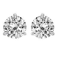 1.5 Carat Solitaire Diamond Stud Earr…