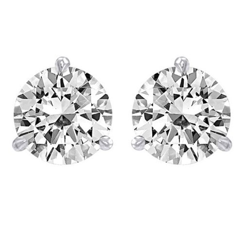 2 Carat GIA Certified Platinum Solitaire Diamond Stud Earrings Round Brilliant Shape 3 Prong Martini/Cocktail Style Screw Back (D Color, IF Clarity, 2 ctw) (Gia Diamond Earrings Platinum compare prices)