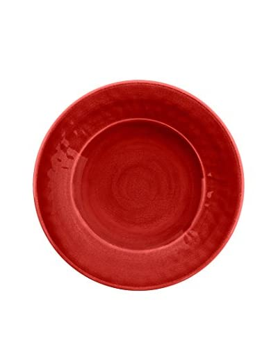 Color Wash Melamine Salad Plate, Solid Red