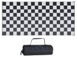 Reversible Mats 139181 Black/White Checkered Mat 9' x 18'