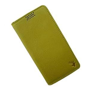 i-KitPit Genuine Leather Flip Case For Lava Xolo Q1010 (YELLOW)