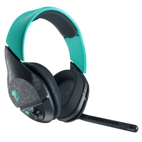 Skullcandy Plyr2 Surround Sound Wireless Gaming Headset, Teal/Navy (Smplfy-280)
