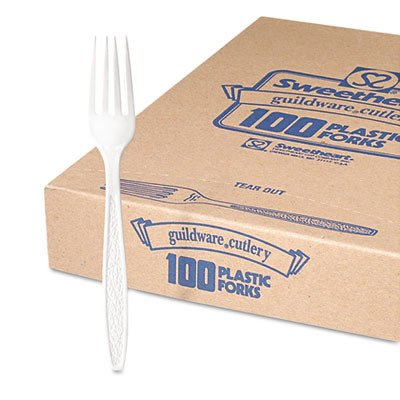 SLOGBX5FW0007BX - Guildware Extra Heavy Weight Plastic Forks