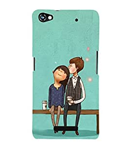 EPICCASE Romantic Couple Mobile Back Case Cover For Micromax Canvas Hue 2 A316 (Designer Case)