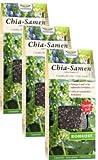 Chia Samen Bio Rohkostqualität 3 Packungen à 450 g