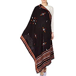 Woolen Embroidered Shawl Wrap For Women Indian Handmade 213X91 cm