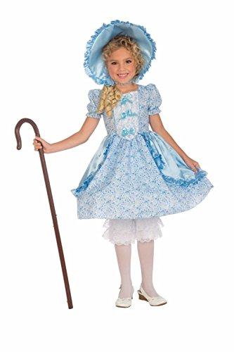 [Lil Bo Peep Child Costume Toddler 2-4 Blue Dress Hoop Bonnet Pantaloon Little] (Lil Bo Peep Adult Costumes)