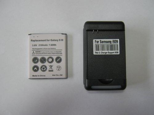docomo Galaxy S III SC-06D / Galaxy S III α SC-03E / au Galaxy III Progre SCL21 共通 バッテリー+充電器セット 予備電池 USB出力付き S3