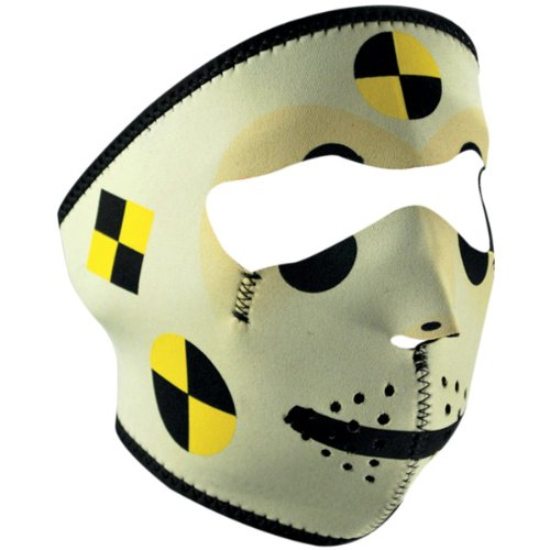 Zan Headgear Crashtest Dummy Men'S Full Face Mask Harley Cruiser Motorcycle Helmet Accessories - One Size Fits Most front-690524