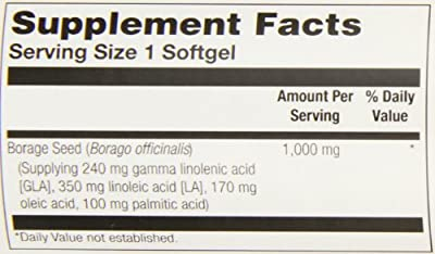 Thompson Borage Oil Softgels, 1000 Mg, 30 Count