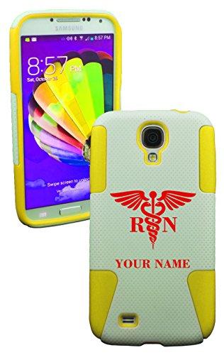 Phonetatoos (Tm) For Galaxy S4 Rn (Add Custom Name) Plastic & Silicone Case- Lifetime Warranty (Yellow)