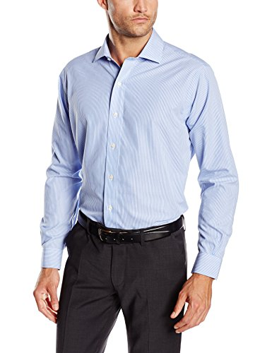 Brooks Brothers - Dress Non-Iron English Regent Stripe, Camicia da uomo, light/pastel blue 47, 42 (collo in. 16 manica in. 34)