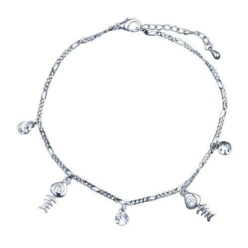 Pugster Dangle Fish Crystal Bracelet Spring