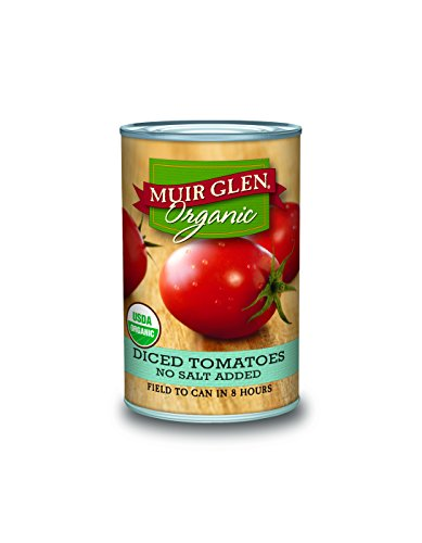 Muir Glen Organic Diced Tomatoes, No Salt, 14.5-Ounce Cans (Pack of 12) (Tomato Diced Can compare prices)