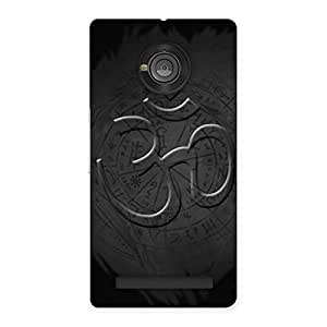 Special Om Grey Back Case Cover for Yu Yunique