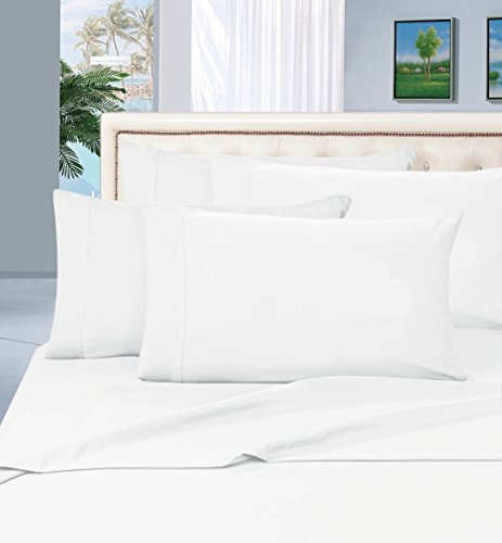 #1 Rated Best Seller Luxurious Bed Sheets Set on Amazon! Elegant Comfort® 1500 Thread Count Wrinkle,Fade and Stain Resistant 4-Piece Bed Sheet set, Deep Pocket, HypoAllergenic - Full White (Full Size Sheet Set White compare prices)