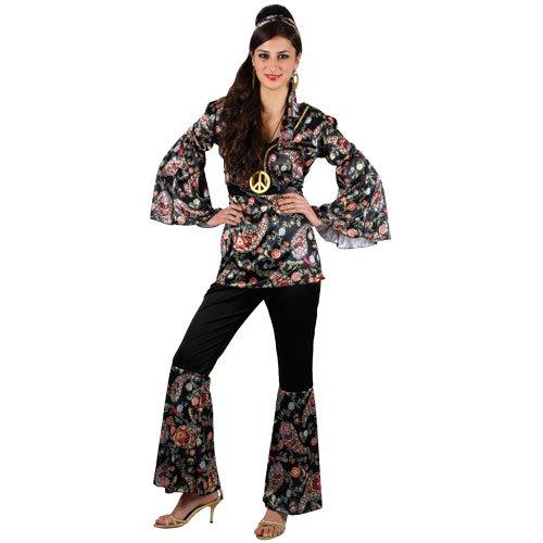 (XXL) Ladies Peace Lovin' Hippie Costume for 60s Mods Rockers Hippy Fancy Dress Womens XXL