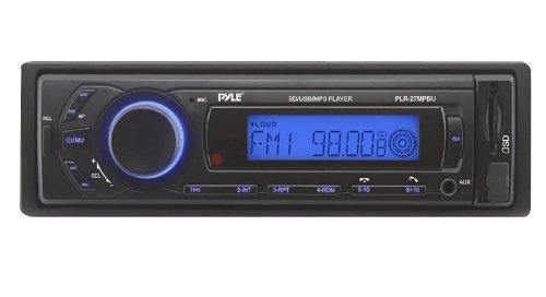 Pyle PLR27MPBU Bluetooth Stereo Receiver In-Dash Console Radio, USB/SD/MP3 Playback, Aux (3.5mm) Input, AM/FM Radio, Single DIN