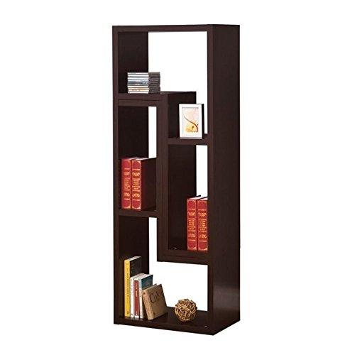 Coaster Home Furnishings 800329 Contemporary Bookcase, Cappuccino (Coasters Console Table compare prices)