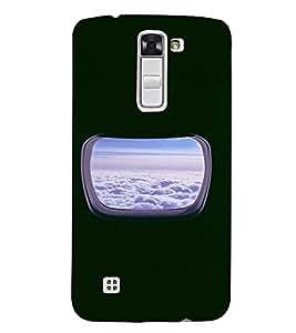 PrintVisa Window Plane Clouds Design 3D Hard Polycarbonate Designer Back Case Cover for LG K7